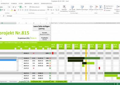 Excel Projektplan 4-Monate