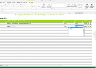 Excel To Do Liste Minimal
