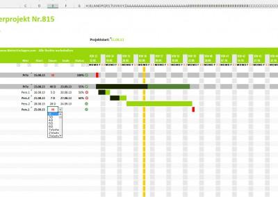 Excel Projektplan Vorlage