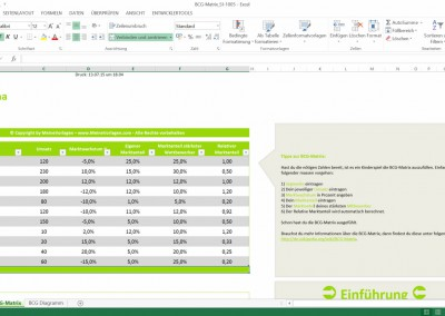 how to create a bcg matrix in excel