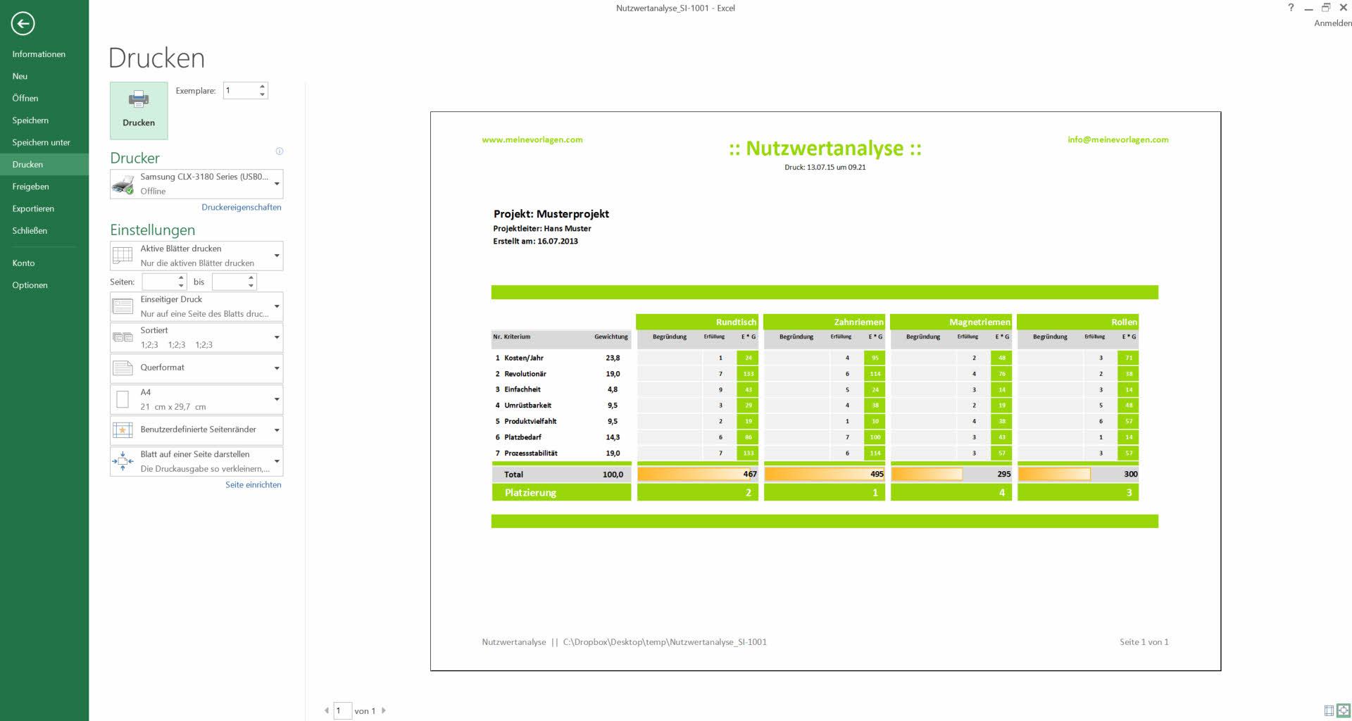 Nutzwertanalyse Excel Vorlage Tutorial Anleitung Youtube 2