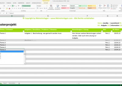 Excel To Do Liste Advance